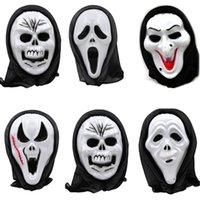 Wholesale black white mask party supplies resale online - Death Final Destination Scream Skull Ghost Mask Fake Face Multi shape Scary Halloween Cosplay Masquerade Party Supplies