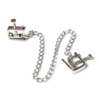 Wholesale metal clips sex resale online - Stainless Steel Chains Metal Female Breast Nipple Clamps with Chain Clips Stimulator Bdsm Bondage Erotic Sex Toys for Couples C18122501