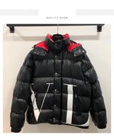 casacos curtos masculinos venda por atacado-2018 Inverno Novo Mens Designer Jaquetas de Alta Qualidade Doudoune Casuais Homens de Luxo e Mulheres Seção Curta Grosso Quente Jaqueta Tamanho S-XL