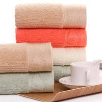 Wholesale manufacturer bamboo resale online - Manufacturers bamboo fiber towel cm plain thick soft absorbent beauty dry hair towel wash face towel