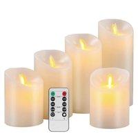 6Pcs//Set Elektrische LED Kerzen Flickering Flammenlose Kerze Licht Fernbedienung