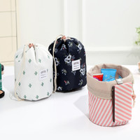 Wholesale colorful travelling bags for sale - Group buy Cosmetic Makeup Cylinder Drawstring Bag Oxford Cloth Colors Multifunction Travel Storage Bag Eco friendly Colorful Large Bag BH0646 TQQ