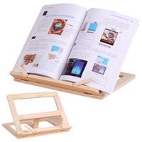 buch steht inhaber großhandel-Einstellbare Tragbare Holz Buchständer Halter Holz Bookstands Laptop Tablet Studie Koch Rezept Bücher Steht Schreibtisch Schublade Organisatoren