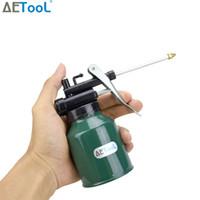 máquina de pintura a óleo venda por atacado-AETool 250 ml Pistola de Pintura Latas De Bomba De Óleo Da Bomba de Lubrificador Máquina Lubrificador Lubrificador Reparação Diy Kit