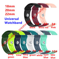 Wholesale garmin smart watches for sale - Group buy 18mm mm mm Silicone Strap For Samsung Galaxy mm Active S3 for Amazfit GTR Huawei GT Garmin Vivoactive Bands Xiaomi Watch