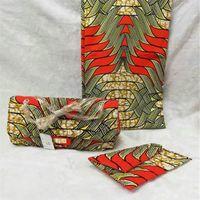 ingrosso sacchetti di tessuto africano-Borse africane per borsa da donna di alta qualità set sacchetto di cera abbinare Ankara tessuto africano stampa a cera per abiti da donna 6 metri! J60539