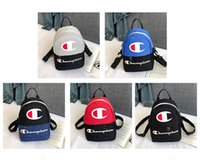 Wholesale ipad mini travel resale online - Unisex Champions Letter Printed Backpacks Mini Sports Travel Shoulder Bags Women Crossbody Chest Waist bag Fanny Packs Rucksack C3194