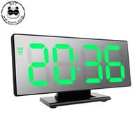 alarmnummer großhandel-LED Desktop Wecker Elektronische Uhr Tisch Temperaturanzeige Multifunktions Snooze Night Large Number Display Wecker