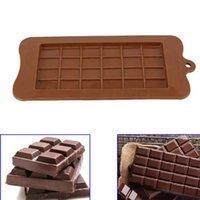 molde de barras de chocolate venda por atacado-24 grade quadrado molde de chocolate molde de silicone molde bloco de sobremesa bar bloco ice silicone bolo doces açúcar baking molde