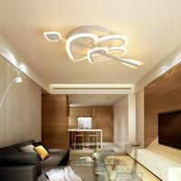 beyaz oturma odası tasarımı toptan satış-Cupid Tasarım Modern led avize oturma odası yatak odası için led tavan ışık düğün odası kız odası beyaz renk kısılabilir avize