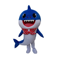 Wholesale movie star baby resale online - Professional custom Baby Shark Mascot Costume Cartoon Yellow Pink Shark whale Character Mascot Clothes Christmas Halloween Party Fancy Dress