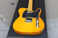 inlay dots gitarre großhandel-2020 Custom Shop '52 American Deluxe Maple Telecaster Natürliche Tele E-Gitarre Buttertoffee Blond Schwarz Schlagbrett Ahorn Hals Dot Inlay