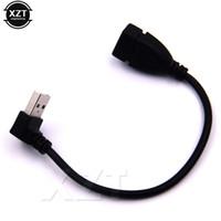 usb up angle cable venda por atacado-Portátil novo Um Macho para Fêmea USB Cabo up Angular 90 Graus USB 2.0 Tipo Cabo de Extensão Cabo