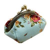 ingrosso piccola borsa della moneta delle signore-Donne Lady Maison Fabre Fashion Coin Purse Retro fiore dell'annata piccolo portafoglio Hasp stampa floreale Pochette Dropshipping 7.03 #