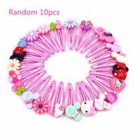 4d9ca808a 10Pcs Hello Kitty Colorful Flower Fruit Cartoon Hairpins Lovely Hair clips  Kids Girls Hair Accessories Headwear Party Gift