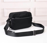 Wholesale camera canvas resale online - new waterproof canvas with leather crossbody bag fashion wild lightweight shoulder bag female classic large capacity camera bag