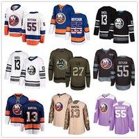 ingrosso pullover di hockey di moda-hockey jersey personalizzati New York Islanders Jersey Mathew Barzal Johnny Boychuk Ryan Pulock Cal Clutterbuck Casey Cizikas Anders Lee Stati Uniti d'America Moda