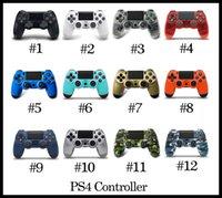 ingrosso gamepad joystick-Controller wireless Bluetooth PS4 per PS4 Vibration Joystick Gamepad PS4 controller di gioco per Sony Play Station Con la scatola al minuto