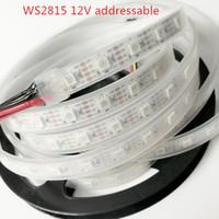 5m carrete al por mayor-Nueva tira LED WS2815 de 1M / 5M (actualización WS2813) DC12V Tira LED RGB 5050 a todo color con direccionamiento individual; 5 m / carrete; 30LEDs / 60LEDs / 144LEDs / m