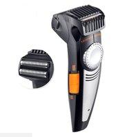hombre cortando cabeza al por mayor-2 en 1 hombre Maquinilla de afeitar eléctrica Maquinilla de afeitar auto peinado Trimmer Cabeza de afeitar Bigote Corte de pelo Máquina de corte de máquinas de corte Peluquería