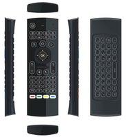 usb dongle android оптовых-MX3 X8 T3 с подсветкой без микрофона мини 2.4 ГГц беспроводной гироскоп клавиатура воздуха мышь дистанционного G-Сенсор для Android TV BOX PC dongle