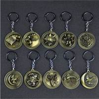 Wholesale free boy girl games for sale - Group buy Hot sale A Song of Ice and Fire keychain new design metal Game of Thrones key ring