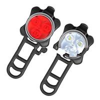 weiße fahrradsicherheit warnleuchte großhandel-Im freien Neue Rücklicht Mountainbike Rot Weiß Fahrrad Laterne Umwelt Material USB Ladung Sicherheitswarnleuchten Camping 11 5lw N1
