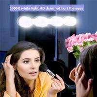 espelho favor frete grátis venda por atacado-Estúdio composição iluminação super brilhante lâmpada de iluminação LED espelho de maquiagem portátil kit de luz alimentado por bateria maquiagem leve espelho SZ314