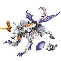 ingrosso blocchi di costruzione bianchi-ENLIGHTEN Journey West Attack Osso bianco Flying Dragon Gyro Marvel Building Blocks Kit Giocattoli Compatibili Nexus Ninja