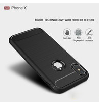 Wholesale mobile back rubber cover for sale – best New carbon fiber case soft rubber shockproof protective back cover armor mobile phone case for iphoneX Xr Xs Xs Max Samsung S10 S10e