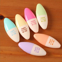 Wholesale pill boxes lighted resale online - mini sizes lovely faces pill light pen little eggs highlightening pens colors set bag