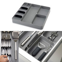Wholesale toy utensils for sale - Group buy practical Tray Insert Cutlery Spoon Utensil Divider Organizer Drawer Organizer Compact Storage Box kitchen accessories