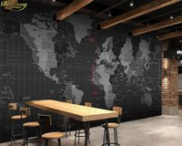 обычай карты оптовых-beibehang Custom Photo Wallpaper Mural Personality Technology World Map Mural Wall обои для гостиной papel de parede