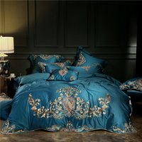 Wholesale royal beds online - 4 Top Level Egypt Cotton Royal Style Luxury Bedding Set Embroidered Duvet Cover Set Bed Sheet Pillowcases Queen King Size