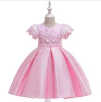 Wholesale formal christmas dresses for toddlers for sale - Group buy Kids Flower Girls Dress Wedding Lace Embroidered Girl Dress Elegant Princess Party Pageant Formal Gown for Toddler Children Dresses