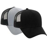 sombrero negro solido al por mayor-Sombrero de camionero de franela de algodón con espalda de malla ajustable Justin Bieber SOLID BLACK