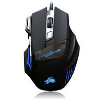 mouse de computador de qualidade venda por atacado-Gaming Mouse de Alta Qualidade Profissional Com Fio 7 Botão 5500 DPI LED USB Óptico Com Fio Jogo de Computador Rato Cabo de Ratos