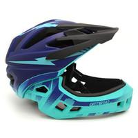 bicicleta dh venda por atacado-Fullface capacete crianças capacete da bicicleta M vermelho mtb bicicleta de montanha ciclismo downhill dh Crianças cheio de equipamentos de bicicleta de rosto