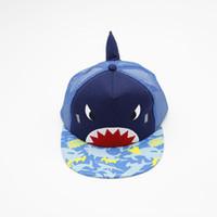 Wholesale baby baseball caps hats for sale - Group buy Shark Baseball Cap cartoon kids hat Spring Summer Fashion Children Novelty Sun Hat Contrast Color Baby Ball Cap FFA2072