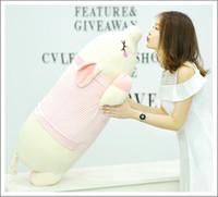 juguete cerdito al por mayor-Squishy Pig Juguetes de peluche Muñeca Mentira Peluche Piggy Toy VERDE Rosa Animales Suave Plushie Calentador de la mano Manta Niños Confortante Regalo