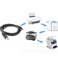 hp usb cabos venda por atacado-Usb cabo da impressora usb tipo b macho para um macho usb 2.0 cabo para canon epson hp zjiang 1.5 m / 3 m / 5 m