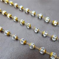 ingrosso borse a mano bianca-Commercio all'ingrosso 6mm vetro fatto a mano rondelle di cristallo perline bianche rame ottone catene di abbigliamento borsa gioielli fai da te accessorise 39.3