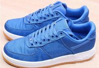 Wholesale game forces for sale - Group buy Clot x Forced Premium Silk Airs Cushion s One Shoes Game Royal Blue White Men Women Skateboarding Low Camping Hiking Footwear