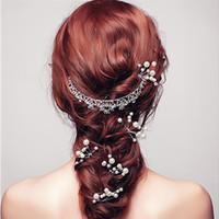 saç şekillendirme aletleri pimleri toptan satış-5 Adet Moda Tokalar Simülasyon Inci Saç Klip Düğün Gelin Şapkalar inci Saç Pins Styling Araçları Örgü Aksesuarları