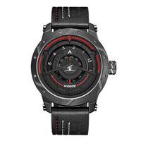 ingrosso guardare i marchi del quarzo weide-WEIDE UV1708 orologi di marca cinturino in vera pelle impermeabile data Quartz moda sport militare orologi da polso da uomo