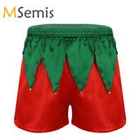 c7c8dbae710e19 I vestiti di Natale degli uomini I bicchierini di Natale Shiny Soft Shorts  in raso Babbo Natale Costume Cosplay Costume Boxer Panties