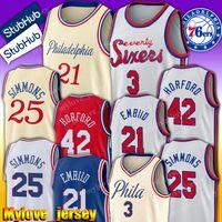 ingrosso jersey caldo-Philadelphia 76ers Jersey Allen Iverson 3 Jersey Tobias Harris 33 maglie Al Horford 42 Jersey Joel 21 Embiid maglie Ben 25 Simmons Hot
