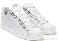 zapatos baratos del envío de los precios bajos al por mayor-2017 nueva calidad al por mayor Zapatillas de deporte para hombre low top Pairs Arena Homme Real Leather Lifestyle Shoes at Low Price for Free Shipping