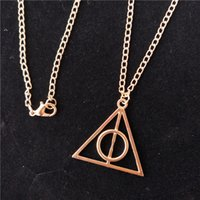 ingrosso ciondolo mortificato harry potter-Il triangolo dei Doni della Morte Collana 3 colori Antique Harry Deathly Hallows Pendenti Potter per il regalo di Natale Free TNT Fedex