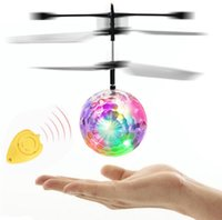 Wholesale rc mini fly resale online - Colorful RC Fly Ball Luminous Kid s Flight Balls Infrared Induction Aircraft Remote Control Toys LED Light Mini Helicopter